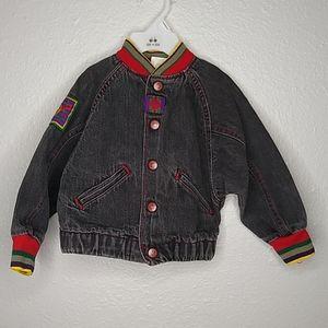 Levi's Vintage Baby Black Jean Bomber Jacket 3T